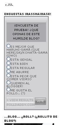 El cuadro de encuestas del blog